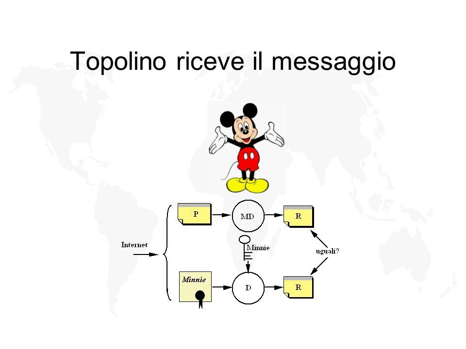 Topolino riceve il messaggio