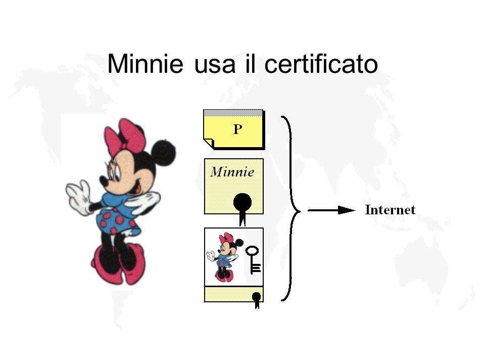 Minnie usa il certificato