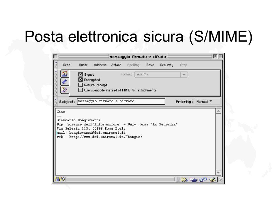 Posta elettronica sicura (S/MIME)