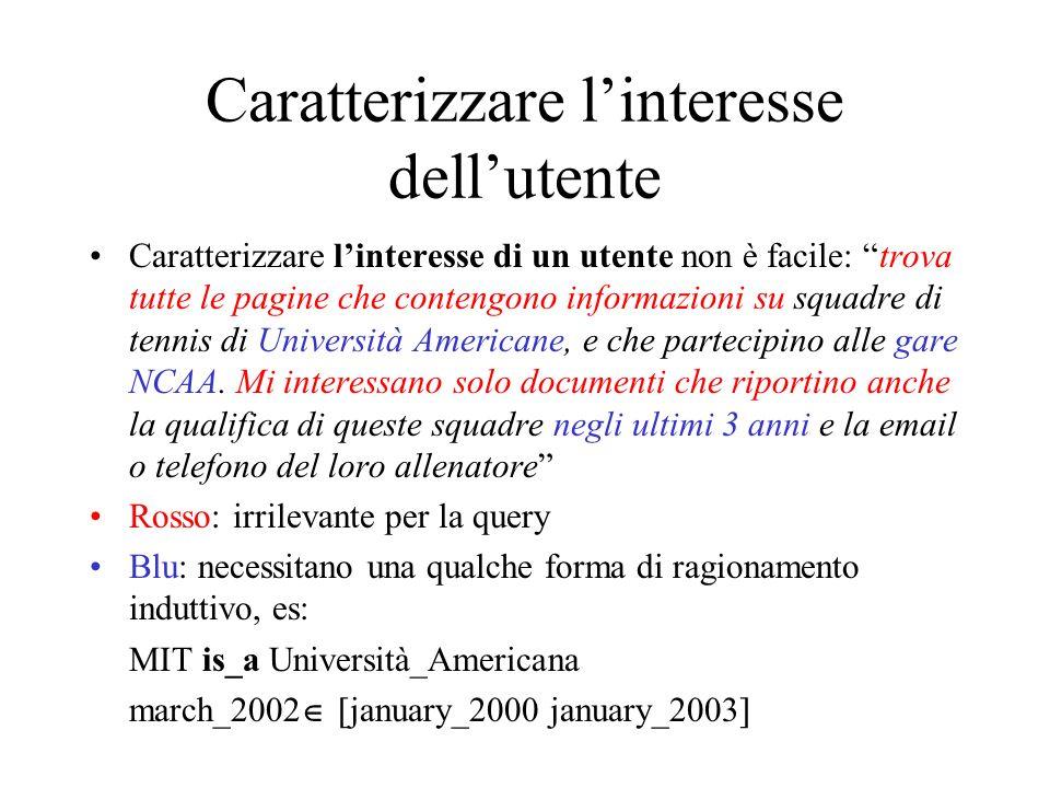 ..Tuttavia anche in casi più semplici cè il problema del silenzio-rumore Esempio: chi ha inventato il web.