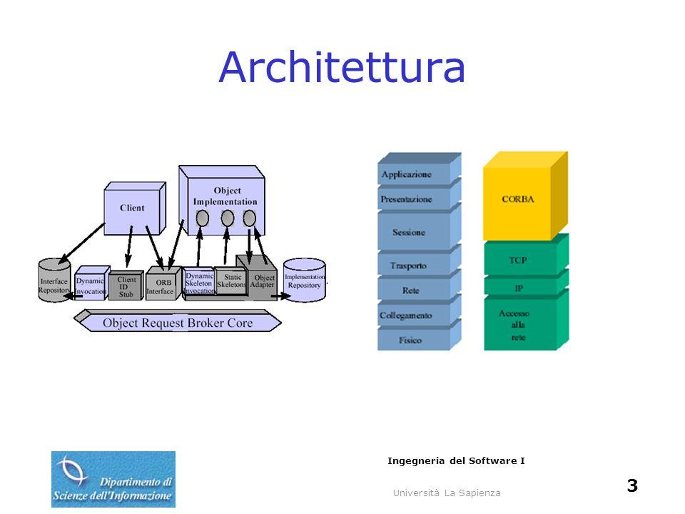 Università La Sapienza Ingegneria del Software I 3 Architettura