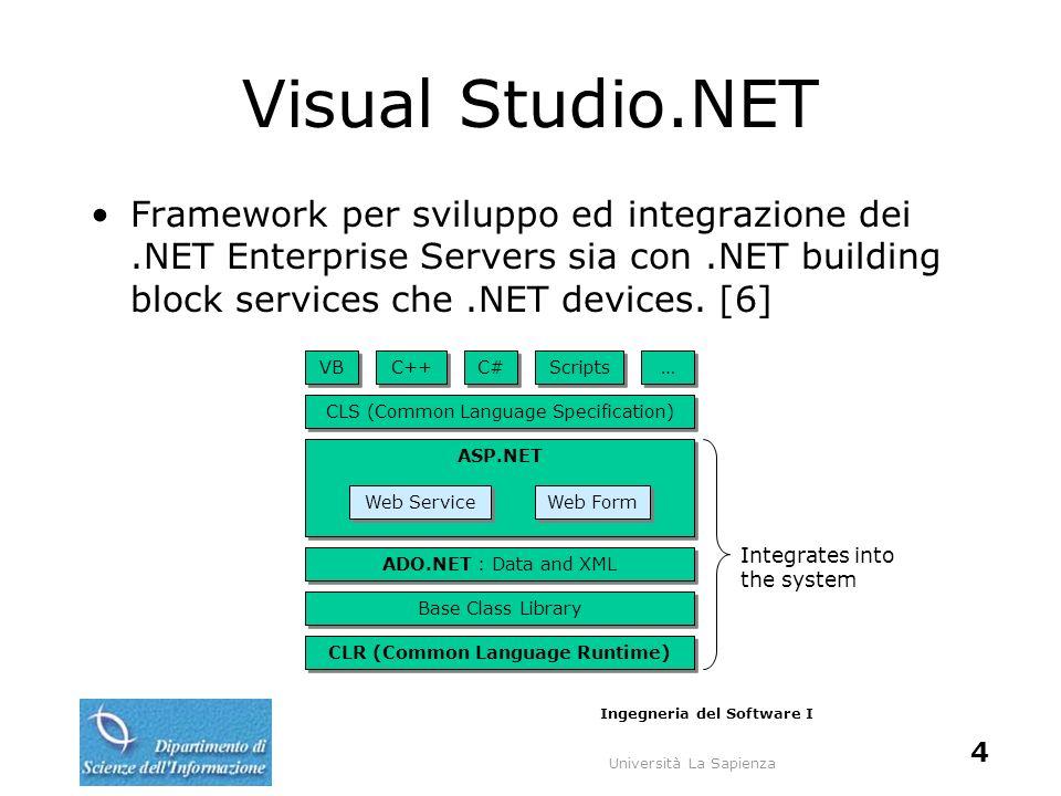 Università La Sapienza Ingegneria del Software I 25 Request SCL + Run Proxy Generator Creazione del codice del Proxy da SDL.