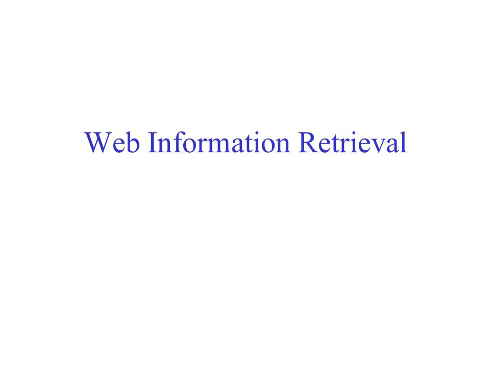 Creazione automatica di Indici nel Web IR Molti sistemi usano varianti dell inverted file Ad ogni parola o keyword viene associato l insieme dei puntatori alle pagine che contengono la parola Eliminazione di stopwords, punteggiatura..
