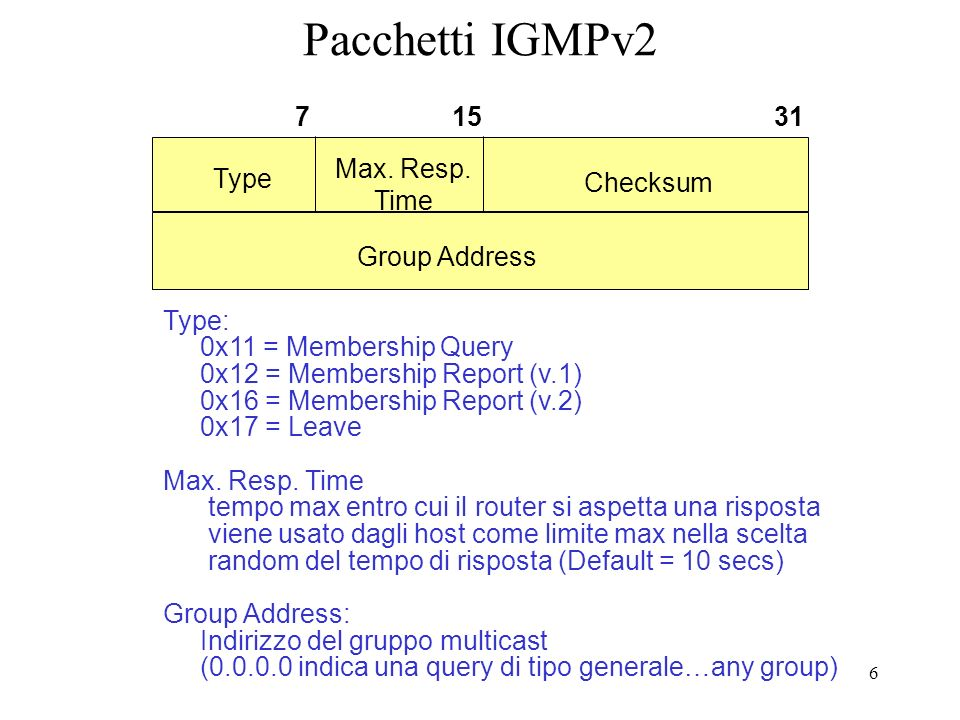 7 H2 Join asincrona H2 effettua una join asincrona Invia un report senza aver ricevuto una query Riduce la latenza (query cicliche) Rtr-a mantiene attivo il gruppo fino allo scadere di un timer che viene resettato da successivi nuovi report H2 224.1.1.1 Report 1.1.1.1 H1 H3 1.1.1.101.1.1.111.1.1.12 rtr-a