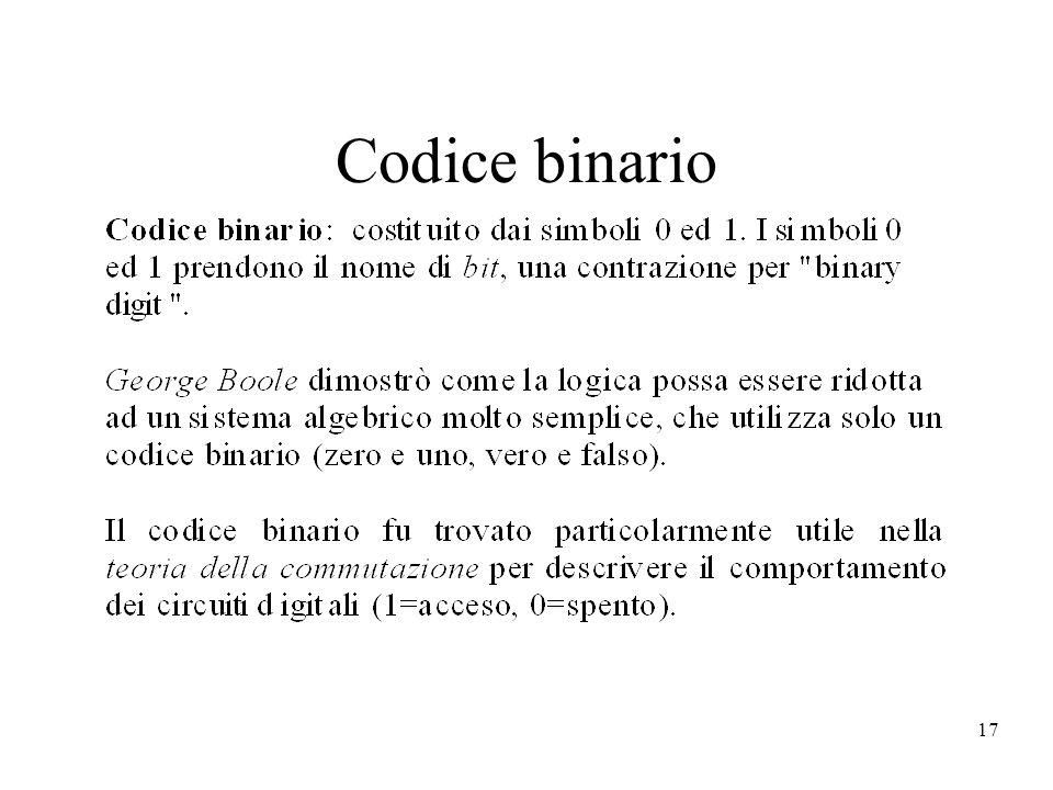 17 Codice binario