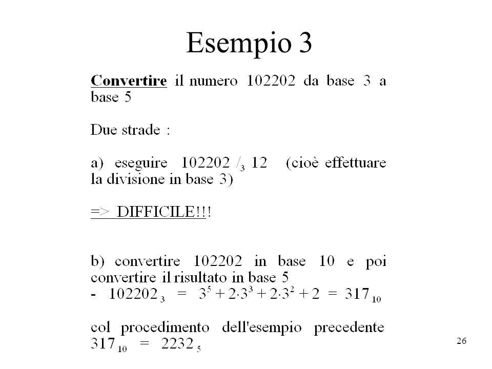 26 Esempio 3