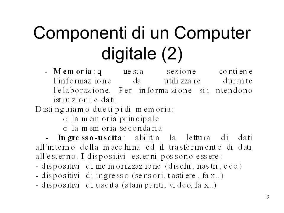 9 Componenti di un Computer digitale (2)