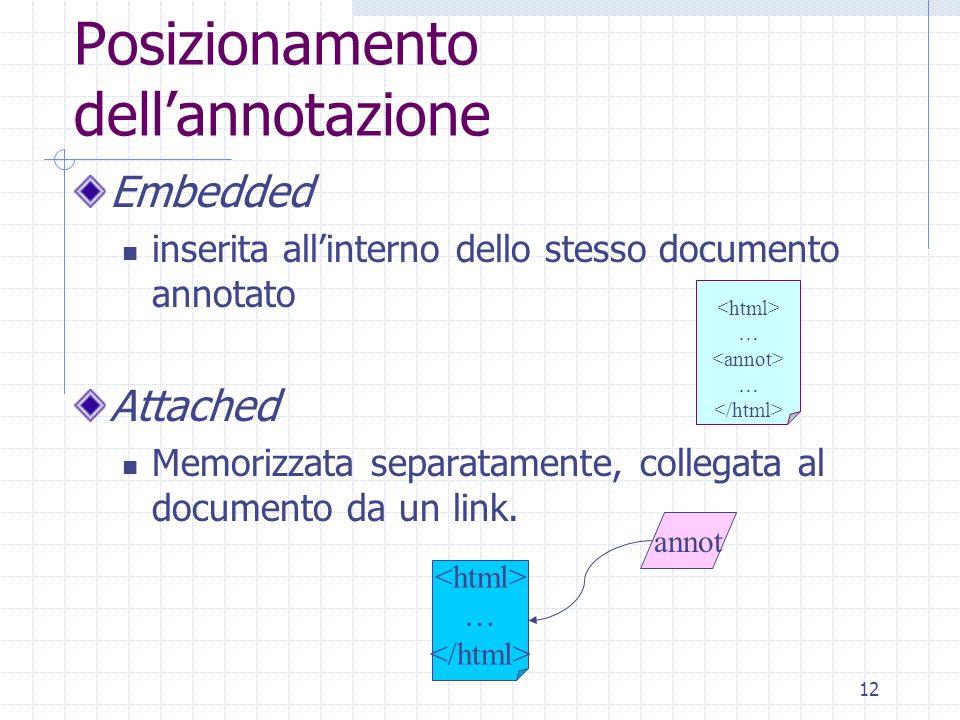 11 Esempio Esempio Annotazione Formale in RDF Michele Missikoff Esempio Annotazione Informale in linguaggio naturale Michele Missikoff un ricercatore