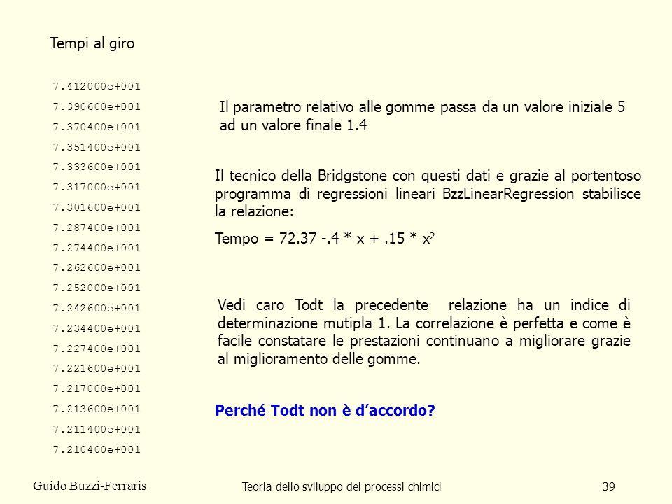 Teoria dello sviluppo dei processi chimici39 Guido Buzzi-Ferraris 7.412000e+001 7.390600e+001 7.370400e+001 7.351400e+001 7.333600e+001 7.317000e+001
