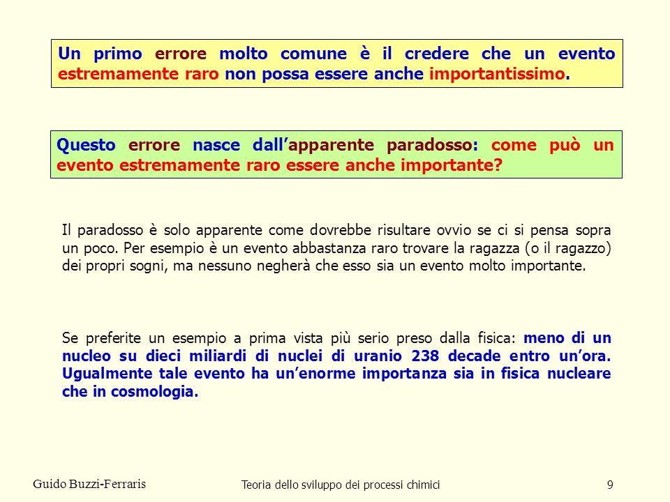 Teoria dello sviluppo dei processi chimici90 Guido Buzzi-Ferraris Vediamo ora un esempio con dadi speciali.