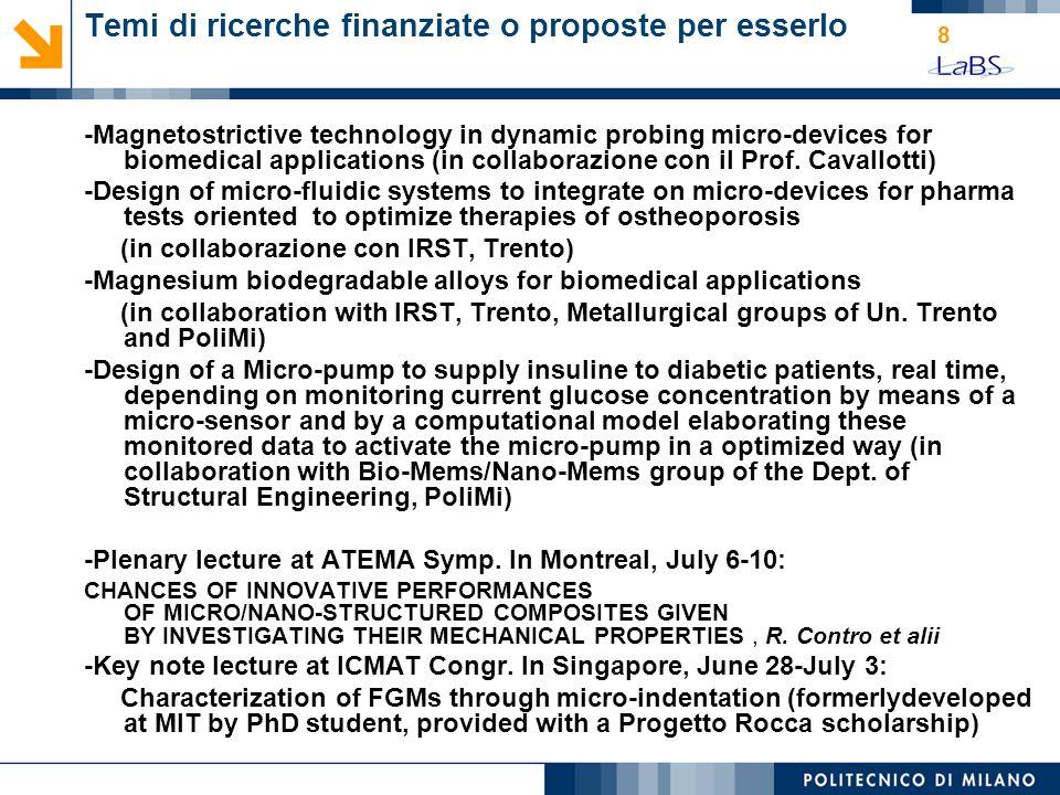 19 titolo: Caratterizzazione biomeccanica di cornee porcine tramite analisi numerica e sperimentale relatore: Prof.