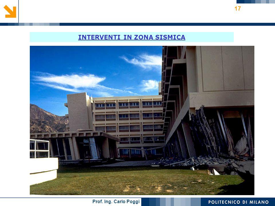Prof. Ing. Carlo Poggi 17 INTERVENTI IN ZONA SISMICA
