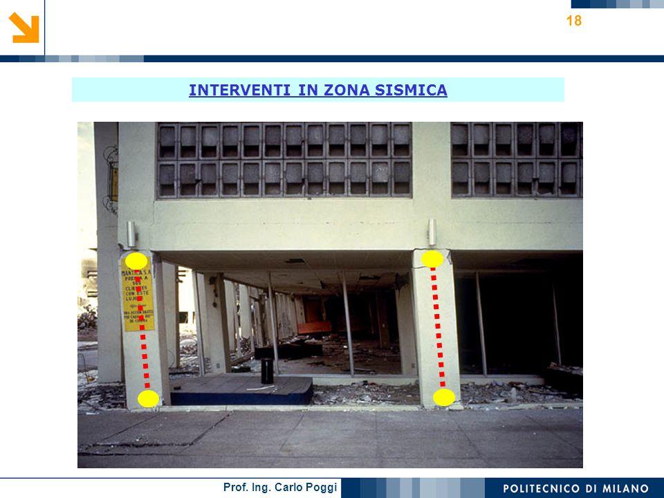 Prof. Ing. Carlo Poggi 18 INTERVENTI IN ZONA SISMICA