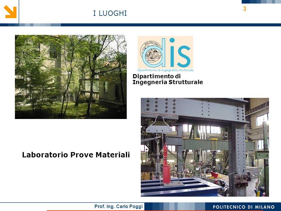 Prof. Ing. Carlo Poggi 14 I materiali innovativi nellingegneria civile