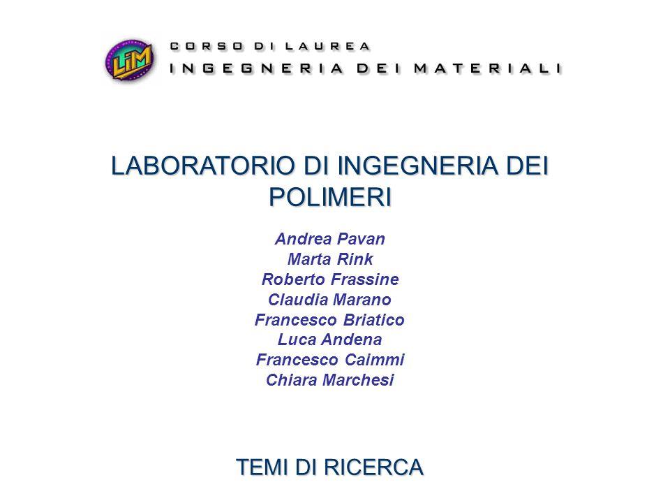 struttura proprietàapplicazioni LABORATORIO DI INGEGNERIA DEI POLIMERI Laboratorio di Ingegneria dei Polimeri