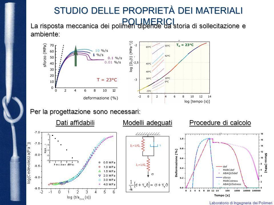 Alcuni esempi applicativi STUDIO DELLE PROPRIETÀ DEI MATERIALI POLIMERICI Integrità strutturale