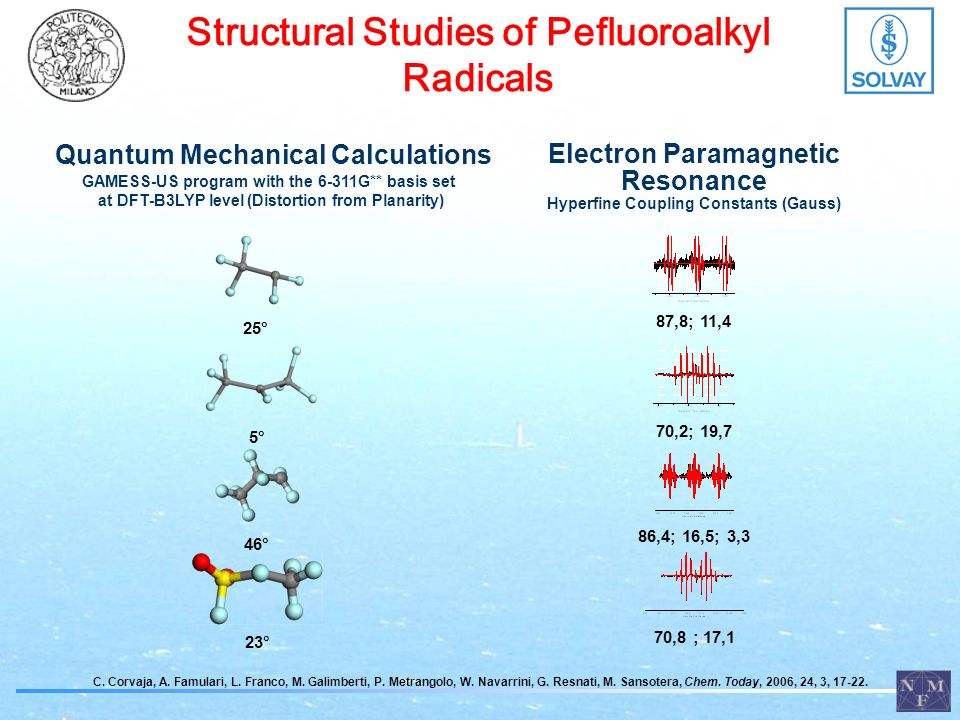 Structural Studies of Pefluoroalkyl Radicals C. Corvaja, A.