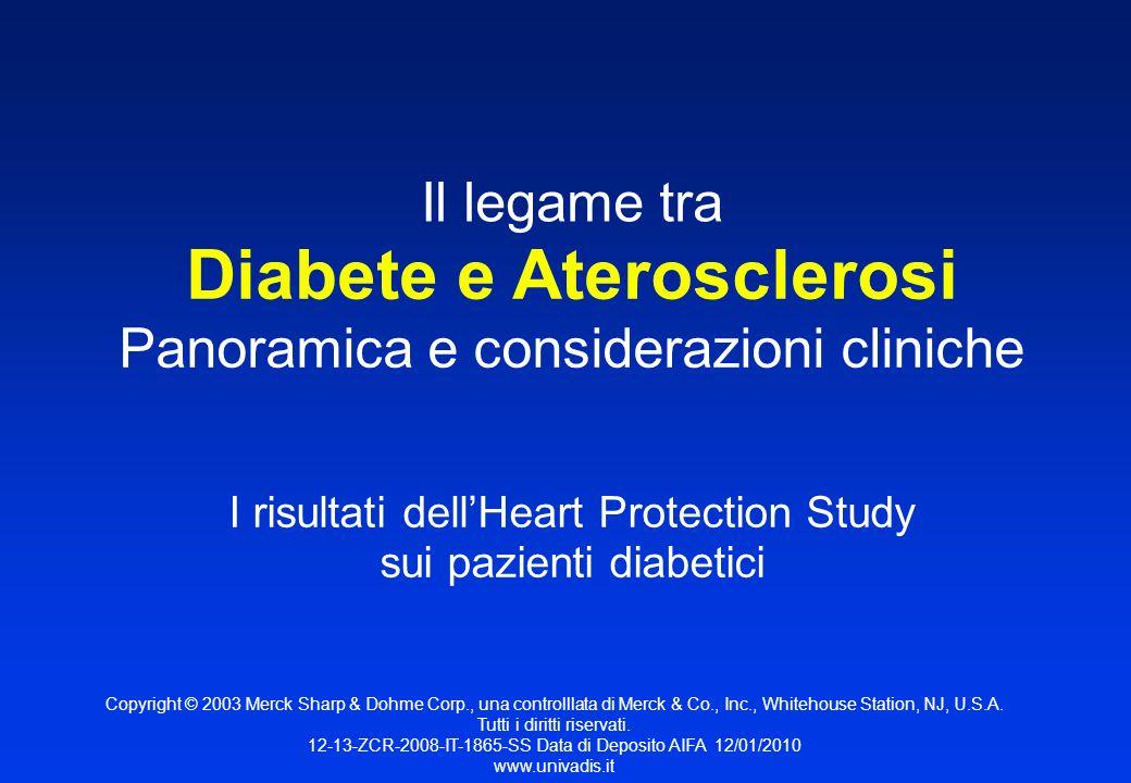 Panoramica e considerazioni cliniche I risultati dellHeart Protection Study sui pazienti diabetici Il legame tra Diabete e Aterosclerosi Copyright © 2
