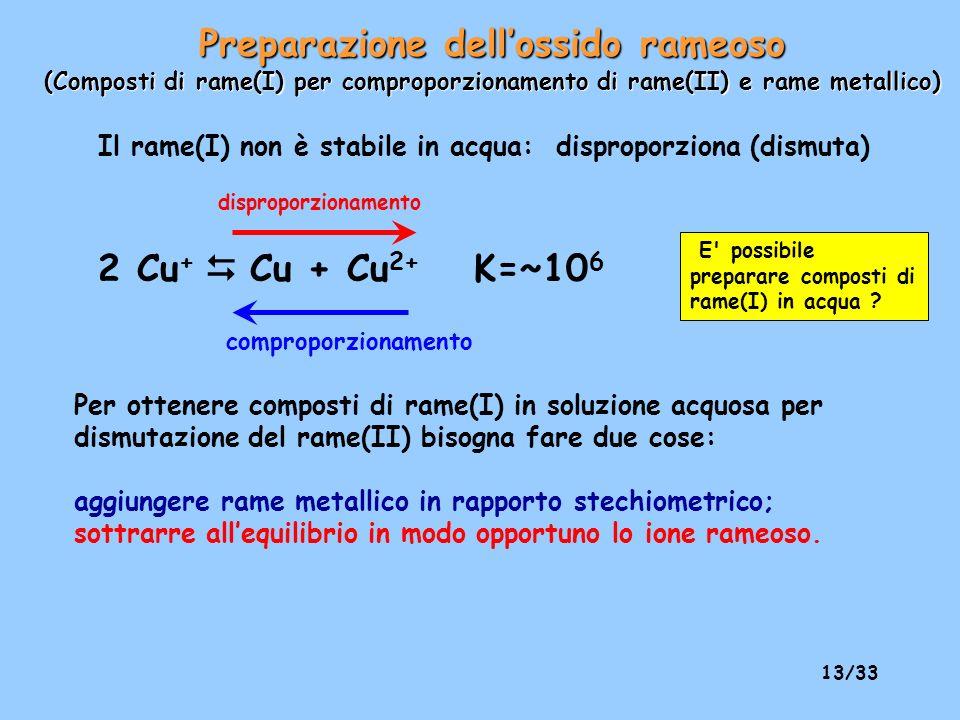 12/33 L ossido di azoto che si forma (NO) si ossida all aria per dare biossido di azoto NO 2 un gas di colore bruno che è in equilibrio col suo dimero