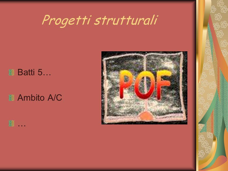 Progetti strutturali Batti 5… Ambito A/C …