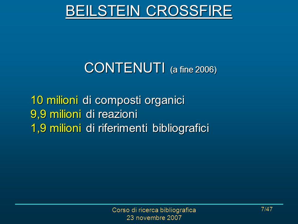 Corso di ricerca bibliografica 23 novembre 2007 48/47