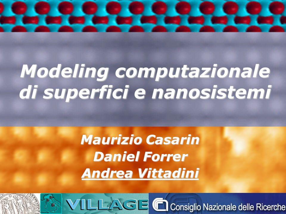 Modeling computazionale di superfici e nanosistemi Maurizio Casarin Daniel Forrer Andrea Vittadini