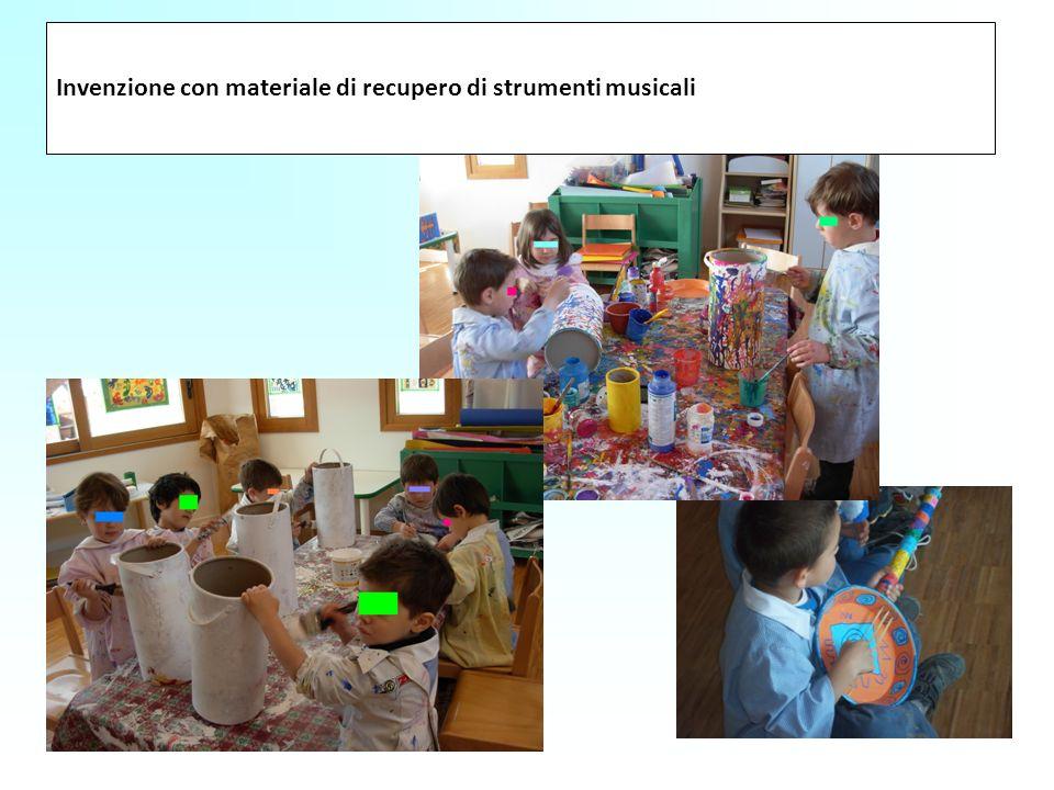 Invenzione con materiale di recupero di strumenti musicali