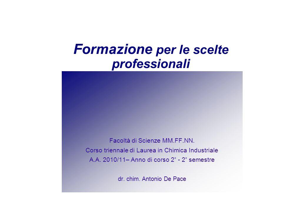 Formazione per le scelte professionali Facoltà di Scienze MM.FF.NN.