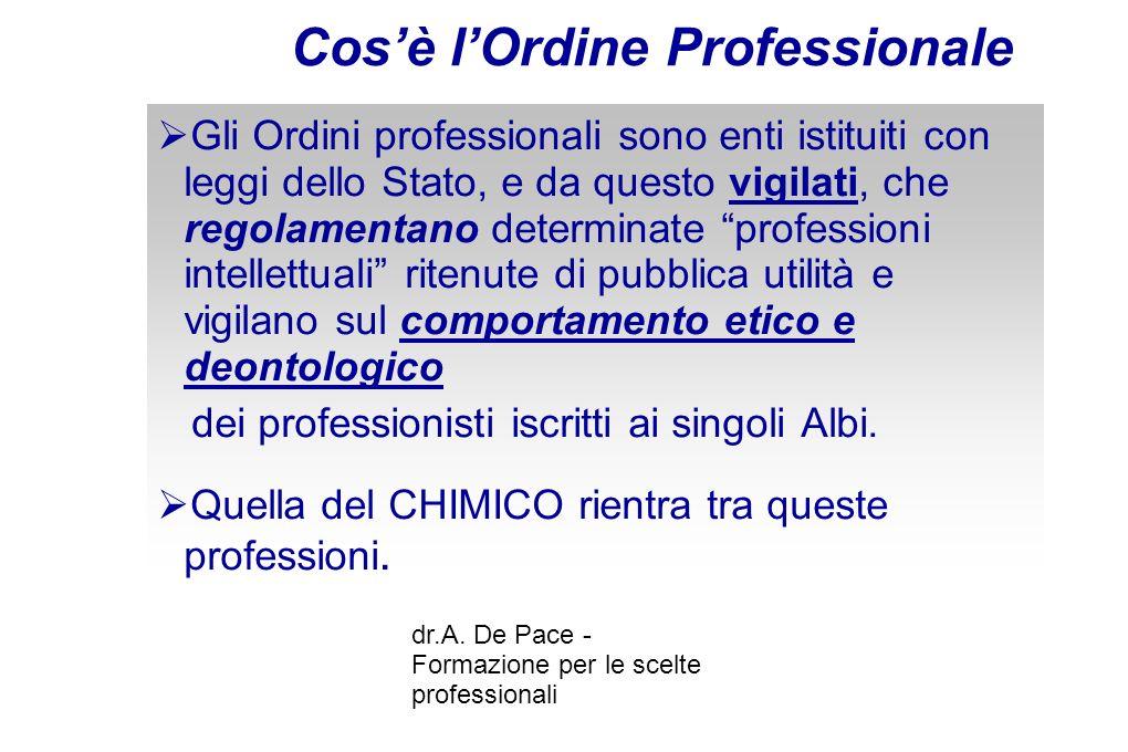 dr.A.De Pace - Formazione per le scelte professionali Gli obiettivi del REACh Art.