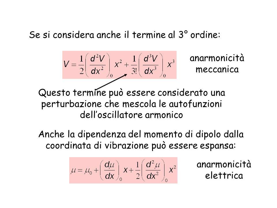 Se si considera anche il termine al 3° ordine: Questo termine può essere considerato una perturbazione che mescola le autofunzioni delloscillatore arm