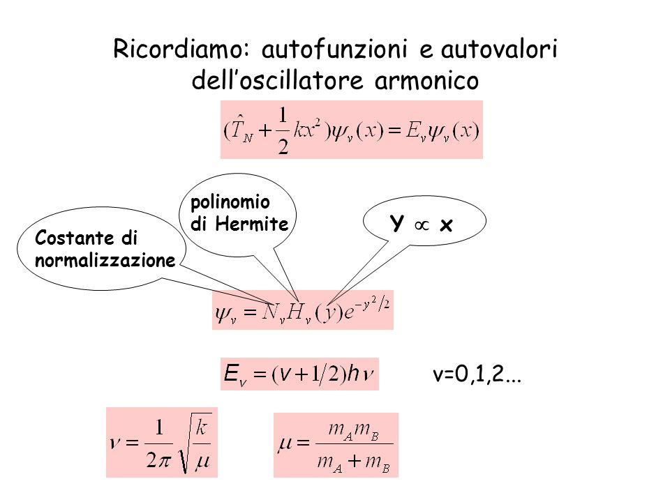 Transizione fondamentale v=0 v=1 v=2 v=3 Regole di selezione v= 1 è uguale a zero 0 .