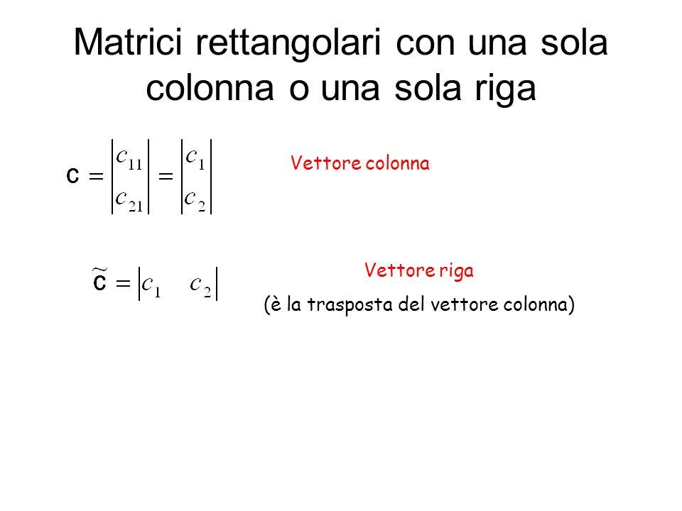 Applicando la regole di moltiplicazione tra matrici abbiamo infatti: Questo sistema di equazioni lineari nelle incognite c 1 e c 2 può essere facilmente riscritto utilizzando la regola di moltiplicazione tra matrici: e quindi