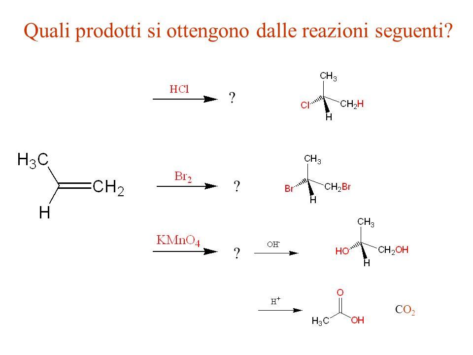 Quali prodotti si ottengono dalle reazioni seguenti? ? ? ? CO2CO2