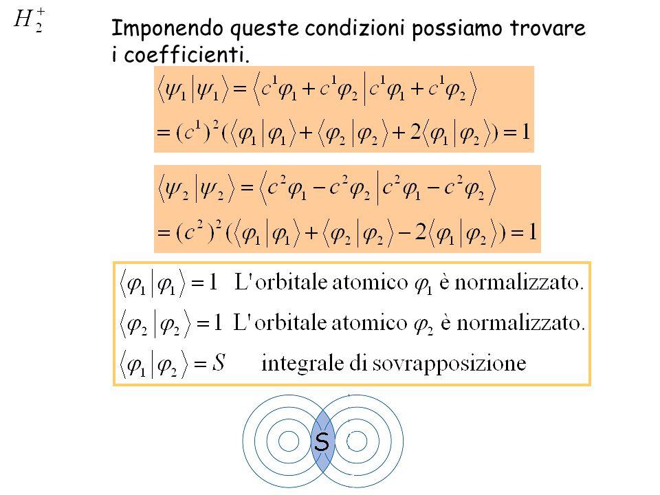 Imponendo queste condizioni possiamo trovare i coefficienti.