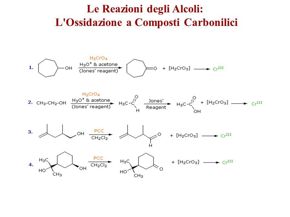 Le Reazioni degli Alcoli: L Ossidazione a Composti Carbonilici