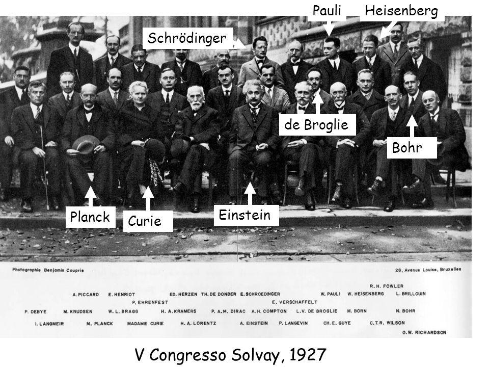 Planck Bohr Curie Einsteinde Broglie Schrödinger HeisenbergPauli V Congresso Solvay, 1927