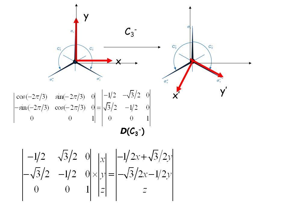 x y y x C3-C3- D (C 3 - )