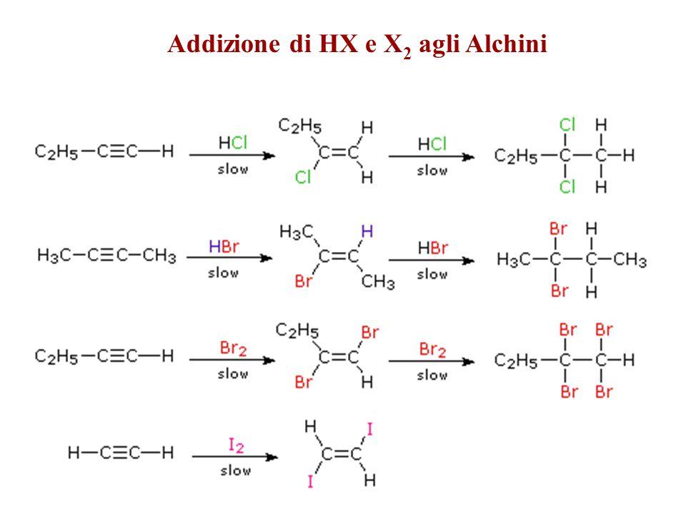 Addizione di HX e X 2 agli Alchini