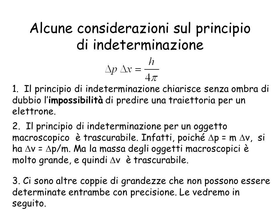Alcune considerazioni sul principio di indeterminazione 1. Il principio di indeterminazione chiarisce senza ombra di dubbio limpossibilità di predire