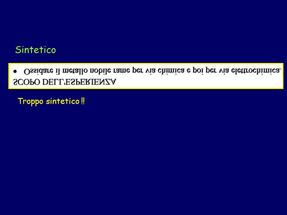 Introduzione Volenteroso (2) Può essere controproducente Meglio non riportare dati che non si usano nella discussione