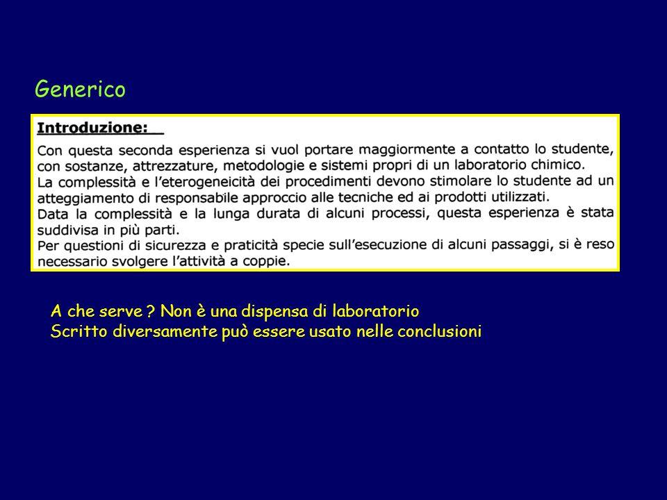 Introduzione Sintetico Troppo sintetico !!