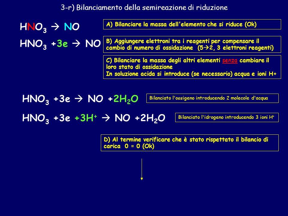 Cu (s) +HNO 3 +H 2 SO 4 CuSO 4 +NO (g) +H 2 O 1) Individuare le specie che cambiano numero di ossidazione 02 Aumenta - ossidazione 5 2 Diminuisce - ri