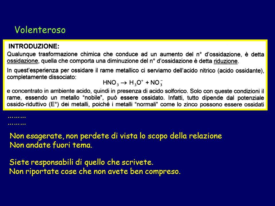 Bilanciamento della reazione di ossido- riduzione
