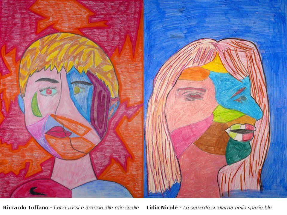 Riccardo Toffano - Cocci rossi e arancio alle mie spalleLidia Nicolè - Lo sguardo si allarga nello spazio blu