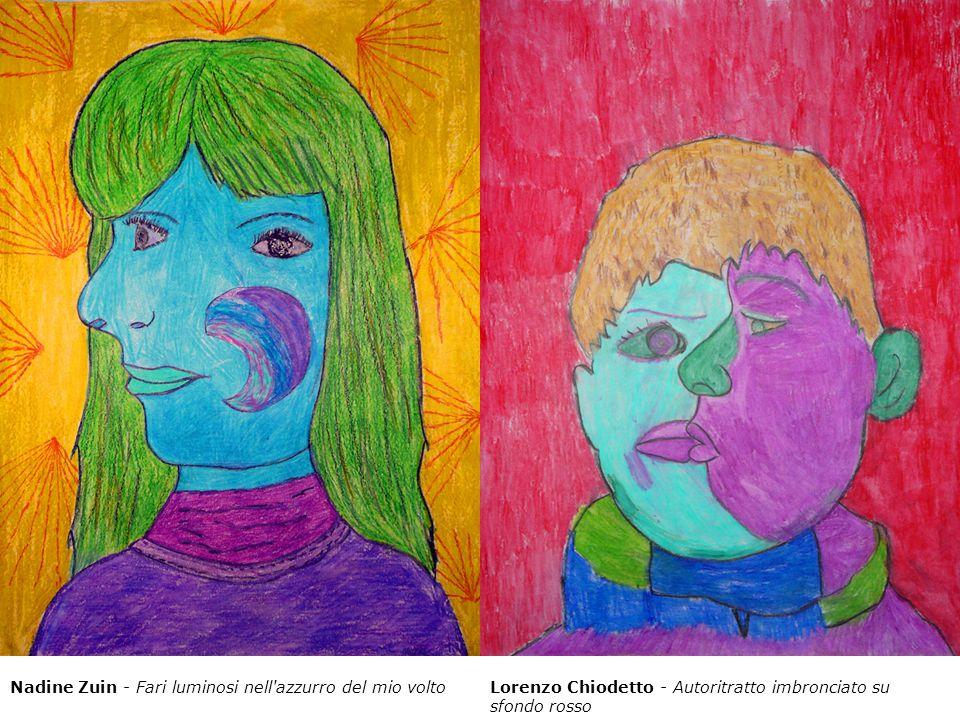 Nadine Zuin - Fari luminosi nell'azzurro del mio voltoLorenzo Chiodetto - Autoritratto imbronciato su sfondo rosso