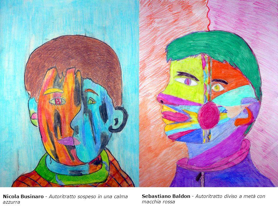 Nicola Businaro - Autoritratto sospeso in una calma azzurra Sebastiano Baldon - Autoritratto diviso a metà con macchia rossa