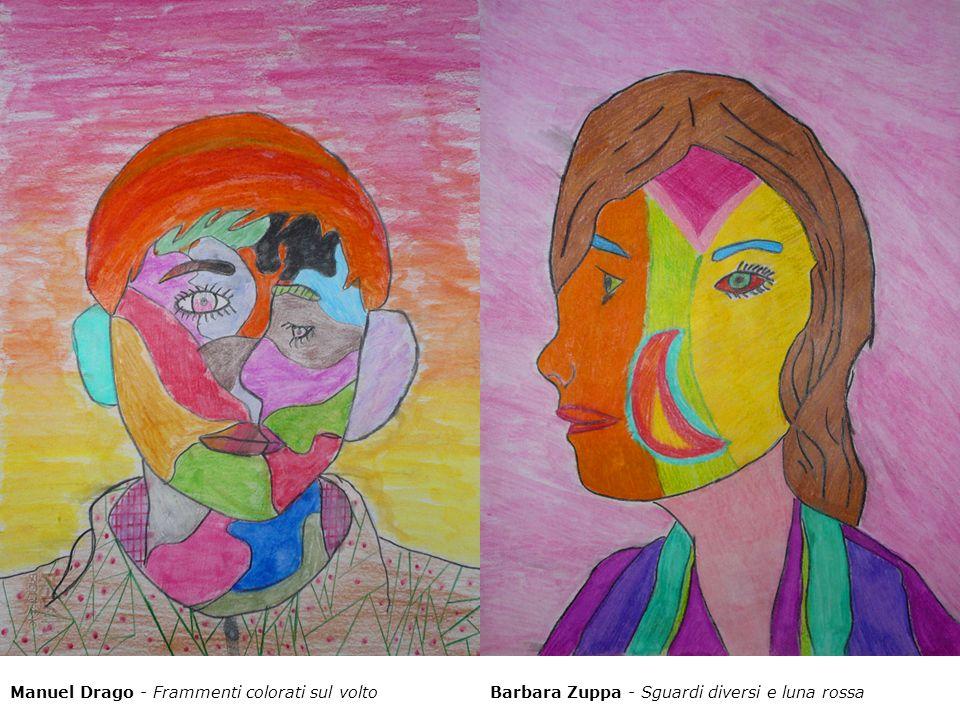 Manuel Drago - Frammenti colorati sul voltoBarbara Zuppa - Sguardi diversi e luna rossa
