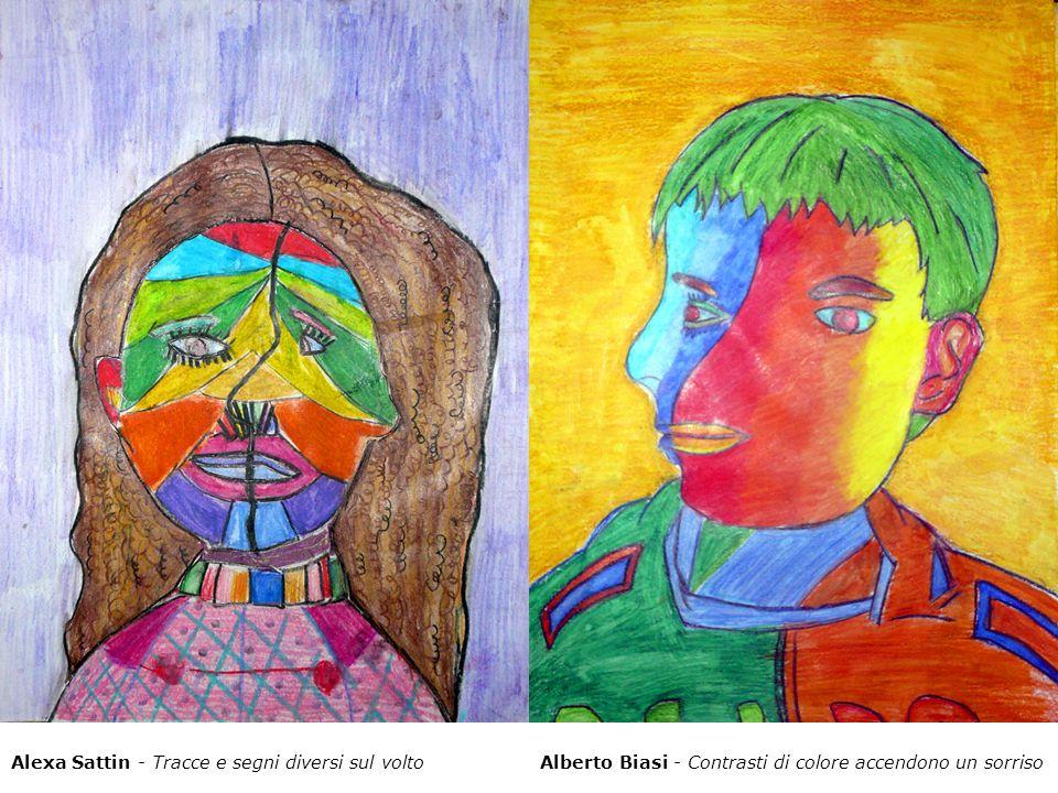 Alexa Sattin - Tracce e segni diversi sul voltoAlberto Biasi - Contrasti di colore accendono un sorriso