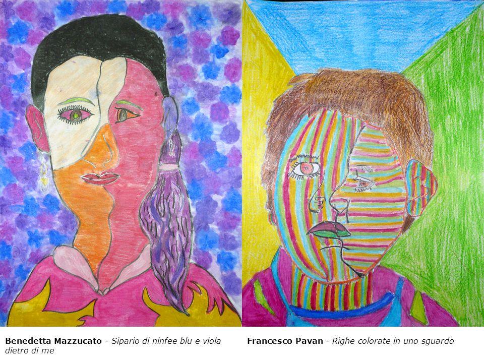 Benedetta Mazzucato - Sipario di ninfee blu e viola dietro di me Francesco Pavan - Righe colorate in uno sguardo