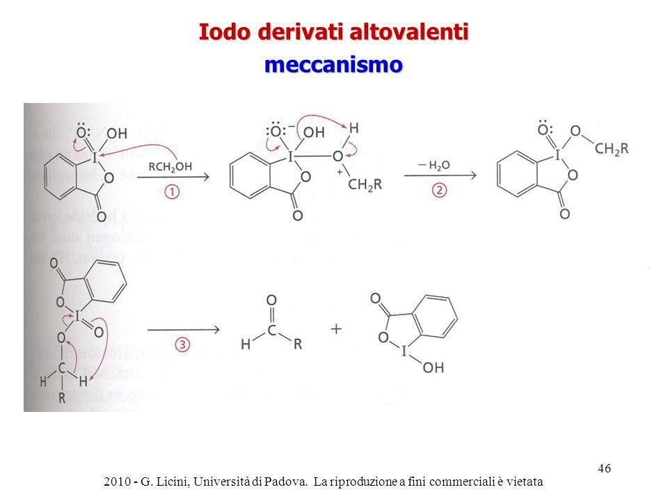 2010 - G. Licini, Università di Padova. La riproduzione a fini commerciali è vietata 46 Iodo derivati altovalenti meccanismo